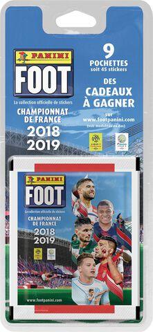 Cartes Foot 2018 2019 - Panini - Blister de 9 pochettes
