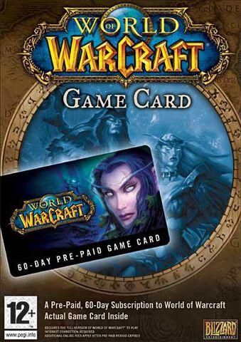 World of Warcraft, Carte prepayée