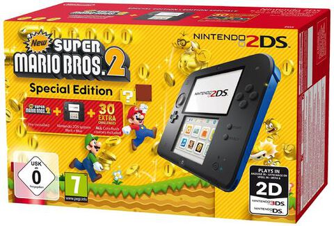 Nintendo 2DS Noire-Bleue + New Super Mario Bros. 2