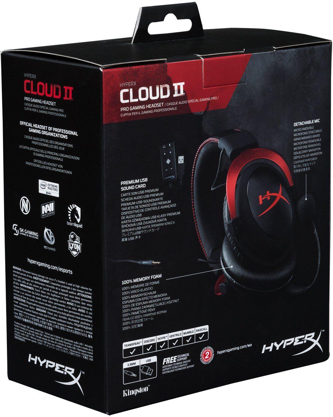 casque gaming hyperx cloud ii noir et rouge darty