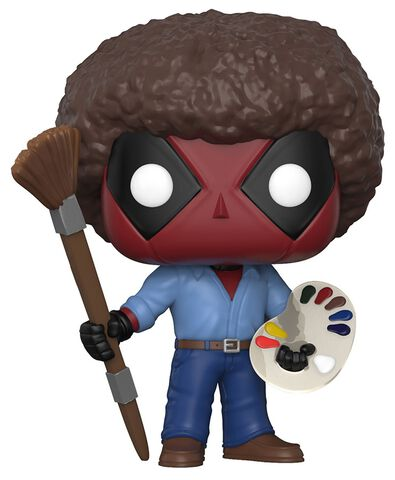 Figurine Funko Pop! N°319 - Deadpool Playtime - 70's avec coupe afro Bob Ross