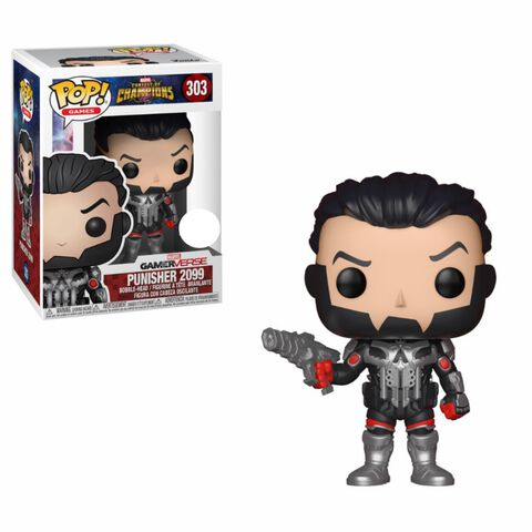 Figurine Funko Pop! N°303 - Marvel Contest of Champions - Punisher 2099 - Exclusivité Micromania-Zing