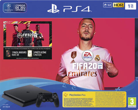 Pack Ps4 Slim 1to Noire + FIFA 20 + Psn 14j