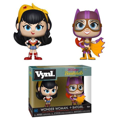 Figurines Vynl - DC Comics - 2-pack Bombshells Wonder Woman et Batgirl