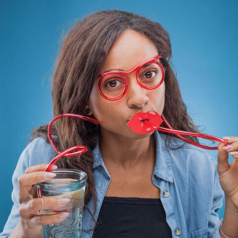 Paille - En forme de lunettes
