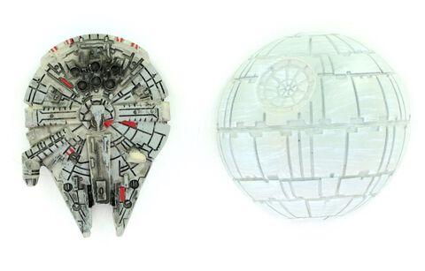 Magnets - Star Wars - Faucon Millenium et Etoile de la Mort - Exclusivité Micromania-Zing
