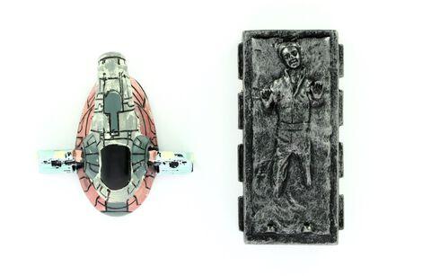Magnet - Star Wars - Han Solo Dans La Carbonite Et Esclave 1 (exclu Gs)
