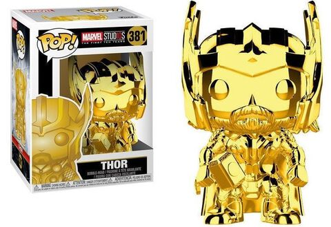 Figurine Funko Pop! N°381 - Marvel Studios 10 - Thor (chrome)
