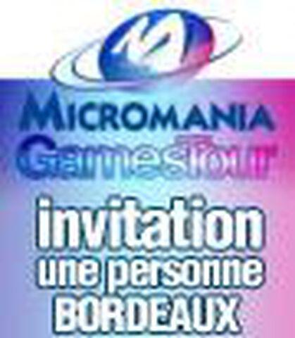 Micromania Games Tour : 1 Place Mgt Bordeaux 08 Octobre 2012