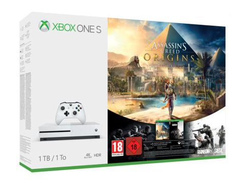 Pack Xbox One S 1to Blanche + Ac Origins+r6 Siege