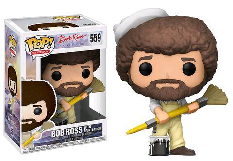 Figurine Funko Pop! N°559 - Bob Ross - Bob Ross En Combinaison