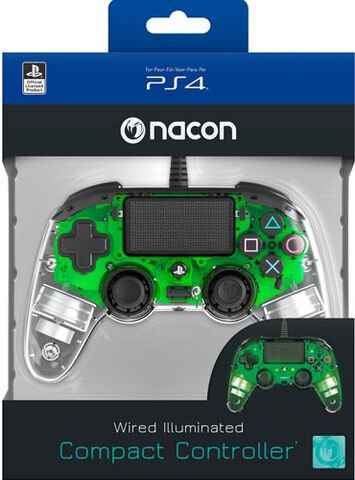 Manette Filaire Officielle Ps4 Clear Green