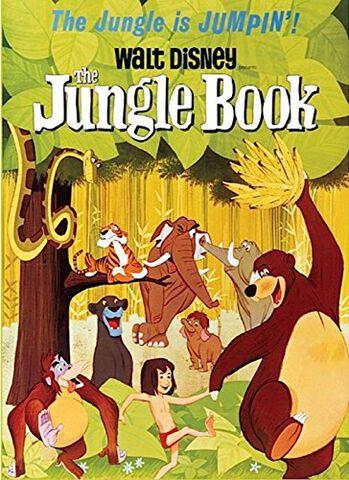 Magnet en métal- Le Livre de la Jungle - Affiche Dessin Animé