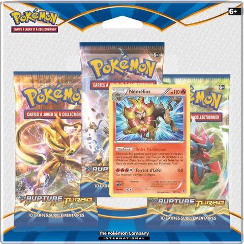 Cartes - 3 pack Pokémon XY Rupture Turbo