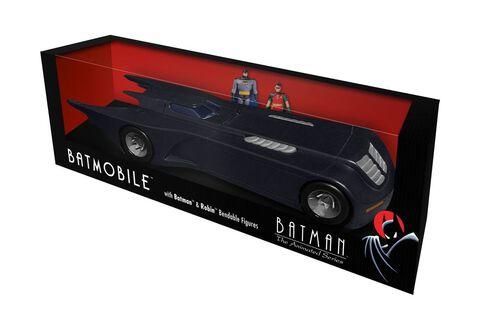 Figurine - Batman - Réplique Batmobile avec figurines Batman et Robin 30 cm
