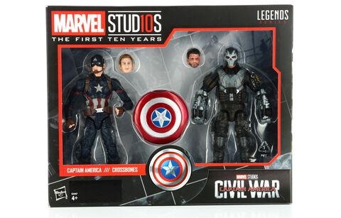 Figurine - Civil War - Anniversaire 10 Ans Twin Pack Captain America Crossbones