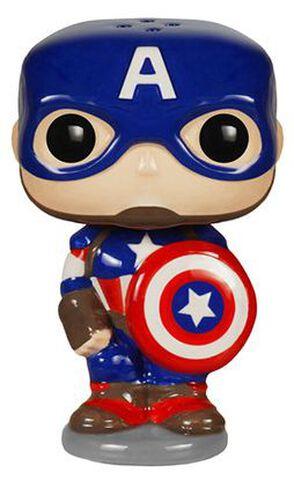 Saliere et Poivriere - Marvel - Captain America et Iron Man