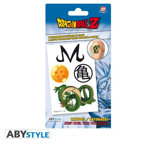Tatouages - Dragon Ball - Kit 5 Tatouages 15x10cm
