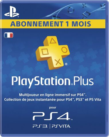 PlayStation Plus 1 Mois PS4 - PS3 - PS Vita