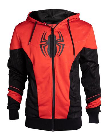 Sweat Outfit Homme - Spider-man - Rouge Et Noir - Taille S