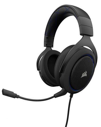Casque Micro Corsair Hs50 Stereo Bleu