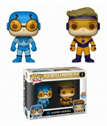 Figurine Funko Pop! 2 - DC Comics - Twin Pack Blue Beetle et Booster Gold