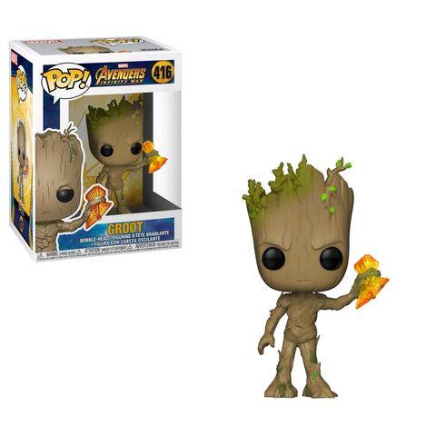 Figurine Funko Pop! N°416 - Avengers Infinity War - Série 2 Groot avec Stormbreaker