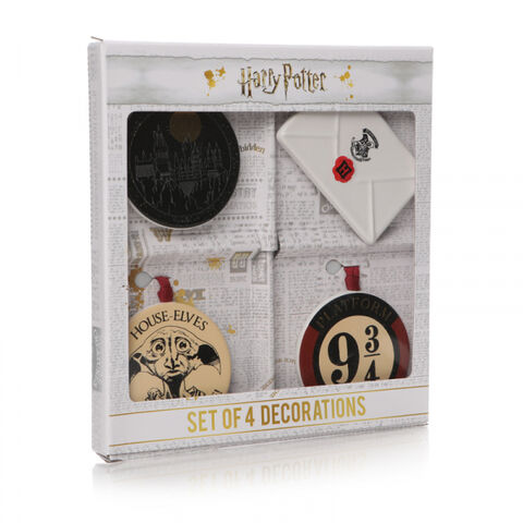 Decoration Noel - Harry Potter - Set De 4