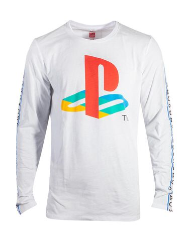 T-shirt Manches Longues - Playstation - Logo - Taille S