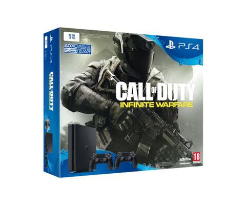 Pack PS4 Slim 1 To + Call of Duty : Infinite Warfare Edition Standard + 2ème manette