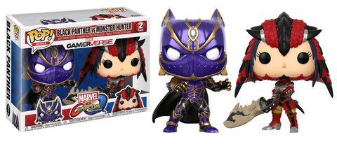 Figurine Funko Pop! - Marvel Vs Capcom - Twin Pack Black Panther Vs Monster Hunter