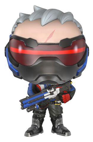 Figurine Funko Pop! N°96 - Overwatch - Soldier 76 - Exclusivité Micromania-Zing
