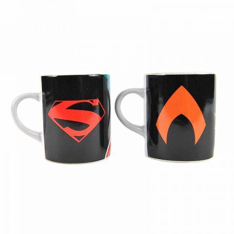 Mug - Justice League - Set De 2 Mini Heat Change Aquaman Et Superman
