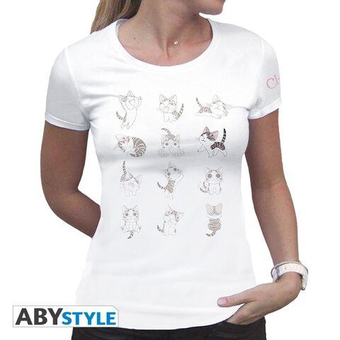 T-shirt Femme - Chi - Expressions de Chi - Blanc - Taille M