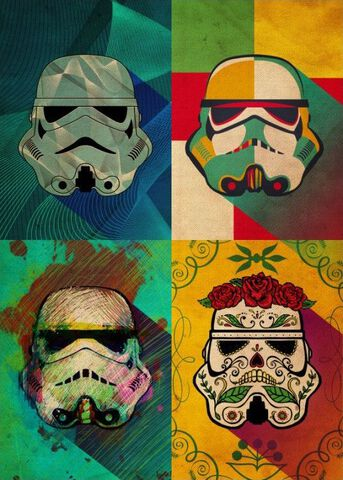 Poster Metallique - Star Wars - Muerte Squad Pop Art Trooper
