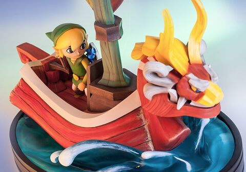 Statuette First 4 Figures Link On The King Of Red Lions Nintendo