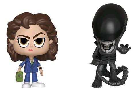 Figurine Vynl - Alien 40th - Twin Pack Xenomorph et Ripley avec Tracker
