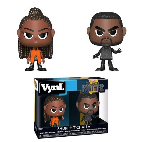 Figurine Vynl - Black Panther - Twin Pack Blanck Panther et Shuri