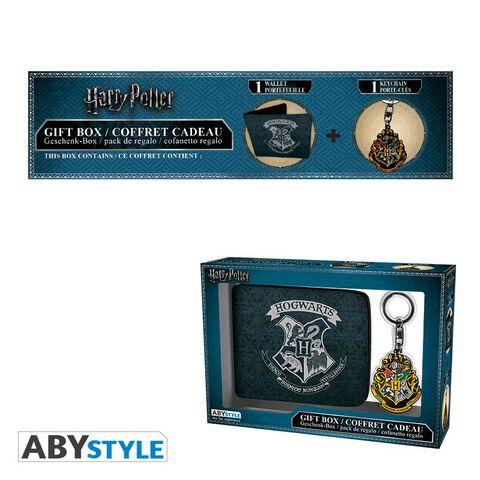 Coffret - Harry Potter - Portefeuille + Porte-clés Poudlard