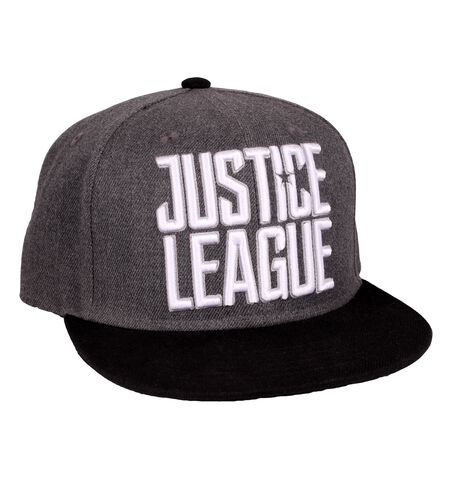 Casquette - Justice League - Logo Blanc sur gris