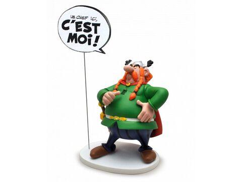 Figurine Bulles  - Asterix - Abraracourcix - Le Chef ici, c'est moi !