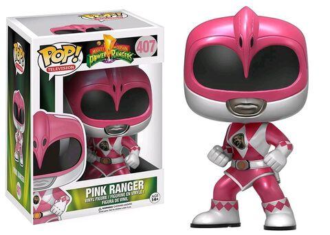 Figurine Funko Pop! N°407 - Power Rangers - Pink Ranger Métallic