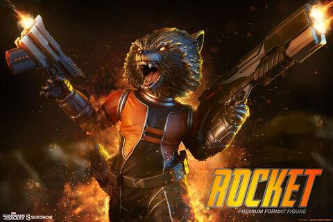Statuette Sideshow - Les Gardiens de la Galaxie - Premium Format Rocket Raccoon