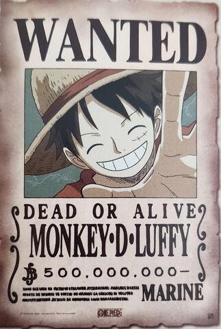 Parchemin - One Piece - Avis De Recherche Luffy 33x49cm (exclu Micromania)