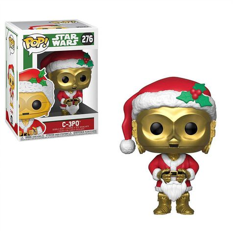 Figurine Funko Pop! N°276 - Star Wars - Holiday C-3PO Père Noël