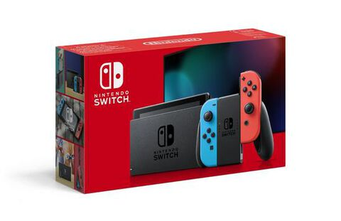 Nintendo Switch 1.1 Avec 1 Joy-con Rouge Néon + 1 Joy-con Bleu Néon