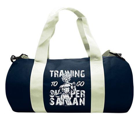Sac de sport - Dragon Ball - Training To Go Super Saiyan - Navy/white