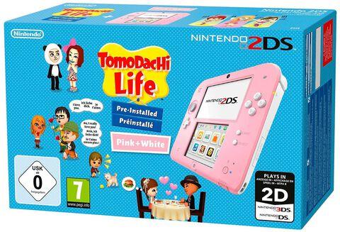 Nintendo 2DS Rose + Blanc Tomodachi Life