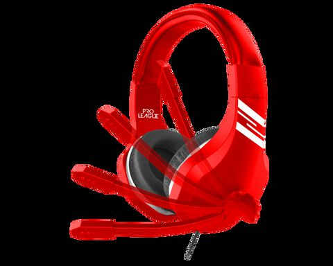 Casque Gaming Pro League Football Rouge