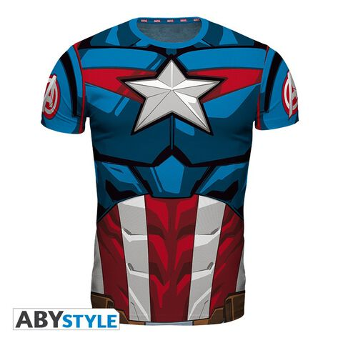 T-shirt Homme - Captain America - Captain America - Taille Xl